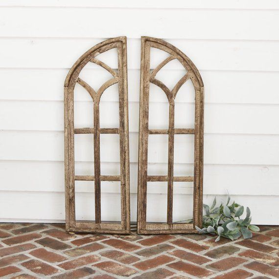 Wood Arch Simply Inspired Home Decor Wall Decor Cathedral Window Wood Window Arched Wall Decor Shutter Wall Decor Wood Arch
