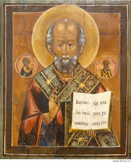 Икона Святой Николай Чудотворец (старинная)