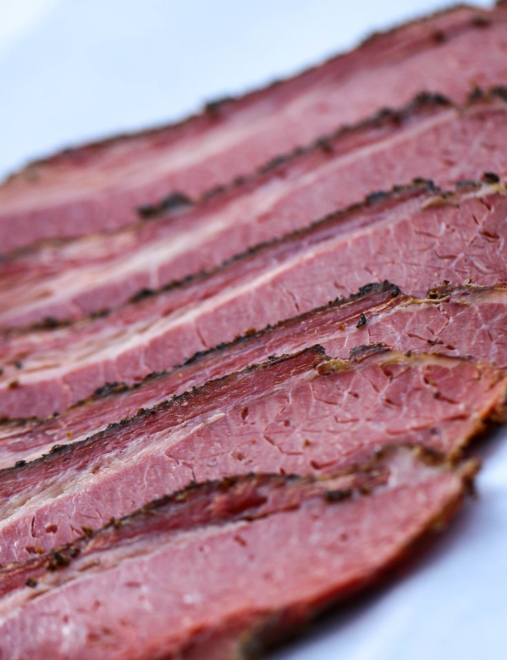 Check out our Homemade Pastrami recipe featured by our friends atThe Food Tasters! Its a great site for great foodand all things Pittsburgh. We have a soft spotfor home-cured meats,and often find ourselves making variations on these traditional brined and smoked delicacies. Whilecorned