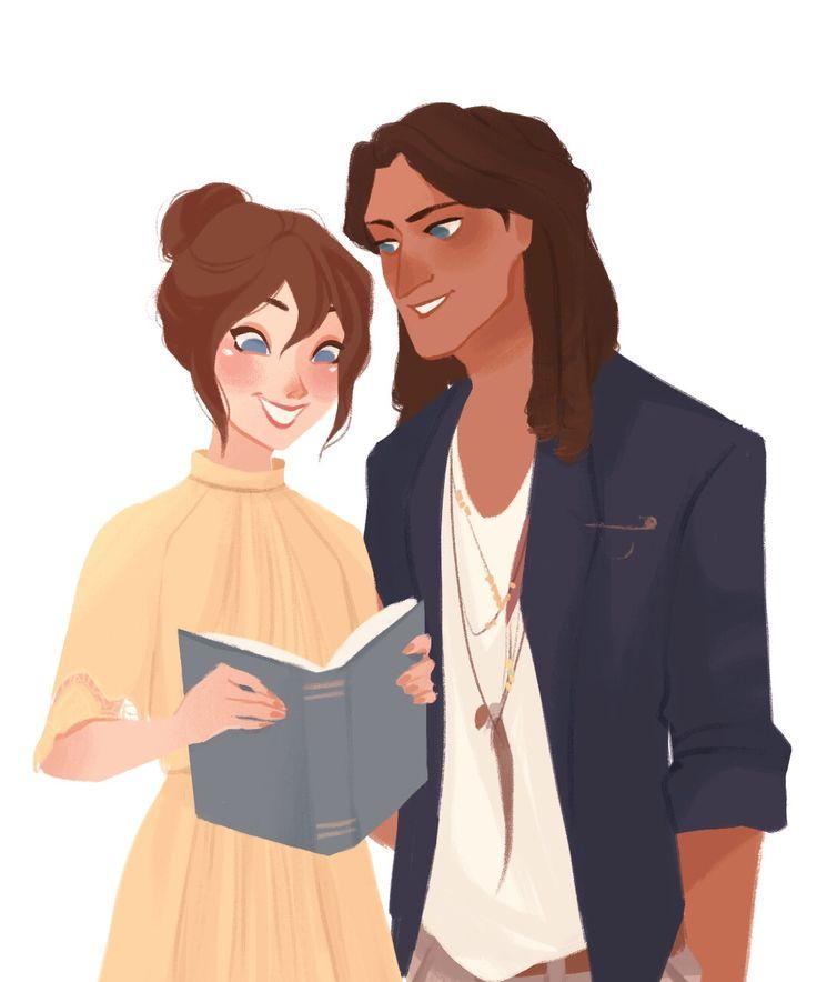 bananannabeth: I encomendou um Tarzan e Jane moderno dopunziella incrivelmente talentoso e aqui está o resultado final !!  Eu não poderia estar mais feliz com ele, é absolutamente perfeito e eu adoro-lo assim tanto que eu não consigo parar de olhar para ele, muito obrigado Pauline !!  E obrigado também, Ashlee ❤️❤️