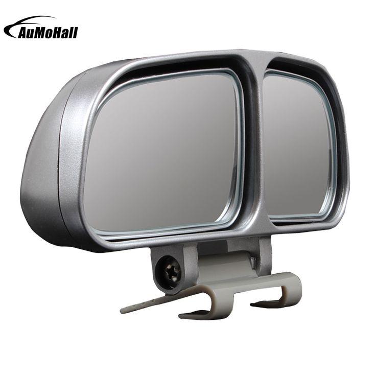 1 זוגות אוטומטי רכב האוניברסלי אחורי מראות צד RearView זווית רחבה כתם עיוור מראה מרובע של 2 צבעים