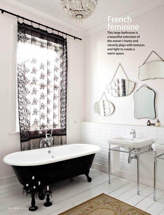 black and white vintage bathroom wwwremodelworkscom - Edwardian Bathroom Design