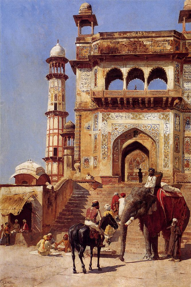 Edwin Lord Weeks  (1849-1903) Before A Mosque