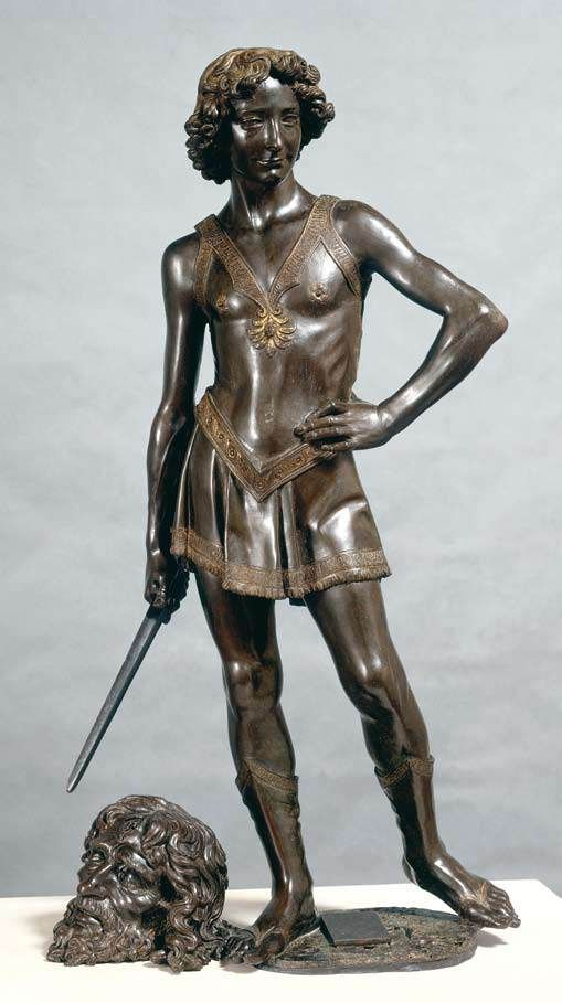 Andrea del Verrocchio, The Young David  1473/ 1475  Bronze, height 125 cm  Museo Nazionale del Bargello, Florence