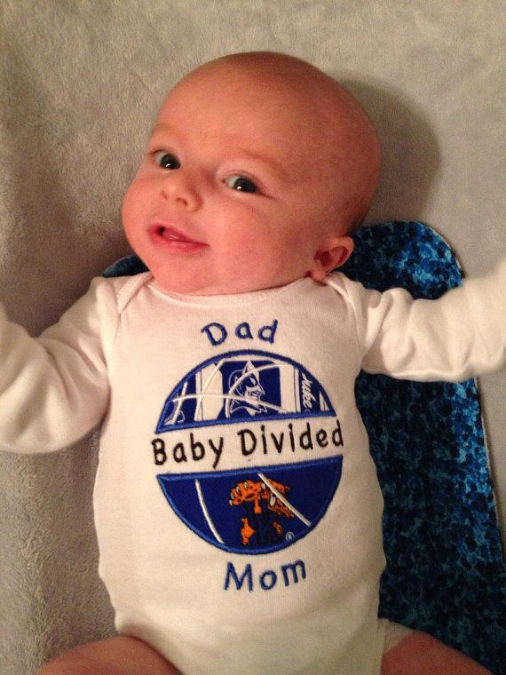 House Divided Baby Basketball Bodysuit Shirt UNC TarHeels Duke