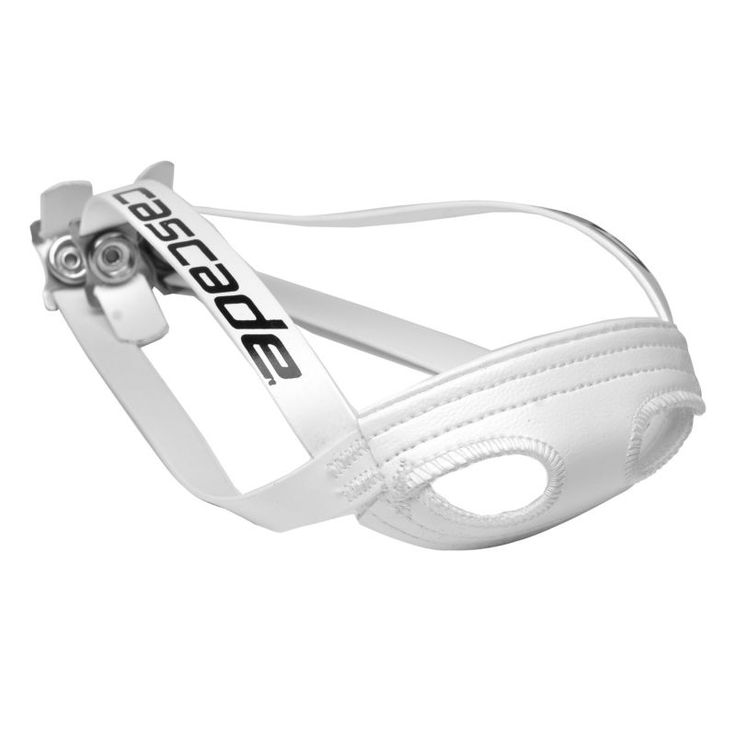 Cascade Lacrosse Helmet Chin Strap, White