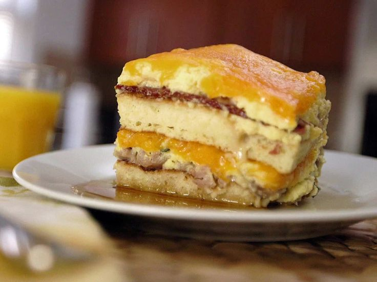 Pancake Lasagna recipe from Eric Greenspan via Food Network