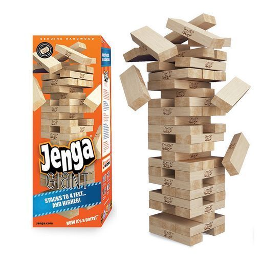 Jenga Giant Party Game Set Wood Tower Blocks Outdoor Games Adults Kids Family  #Jenga