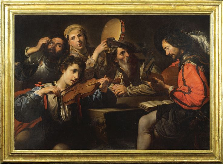 LOT 547 Valentin de Boulogne, coeval copy from, oil on canvas 101,6x147,3 cm.