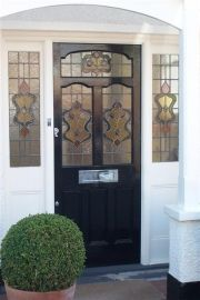 Victorian Door with real stained glass fitted in Wimbledon
