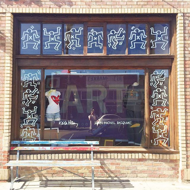 Our New Front Window Featuring Keith Haring & Jean-Michel