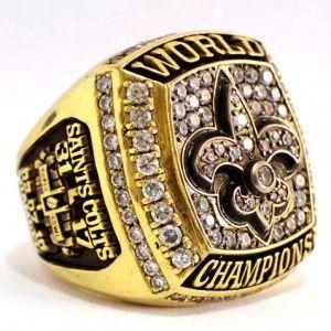 2009 New Orleans Saints Super Bowl XLIV  Ring http://www.titlerings.com/new-orleans-saints-super-bowl-rings/