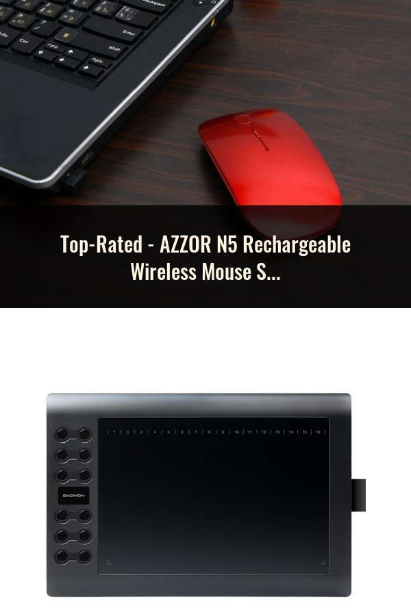 76338aa07c4 AZZOR N5 Rechargeable Wireless Mouse Silent Mute USB Optical Mouse 2.4GHz  Super Slim Mouse Mice for Computer PC Tablet   Computer Peripherals in 2019    Pc ...