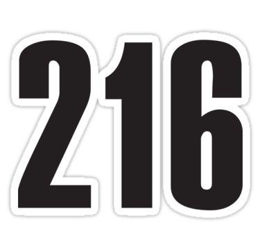 216 Cleveland | Phone Area Code Shirts Stickers by FreshThreadShop