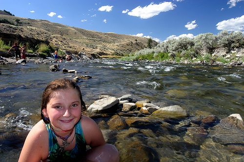 Yellowstone's Boiling River - This spa experience can be found at the 45th parallel bridge just north of Mammoth Hot Springs, and is one of the few places where swimming is permitted in the park.