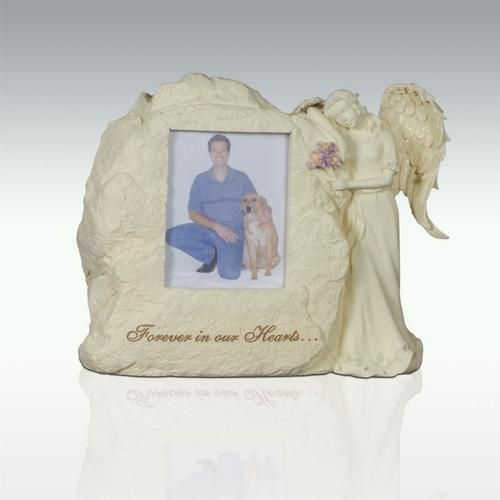 Forever In Our Hearts - Angel With Picture Pet Cremation Urn
