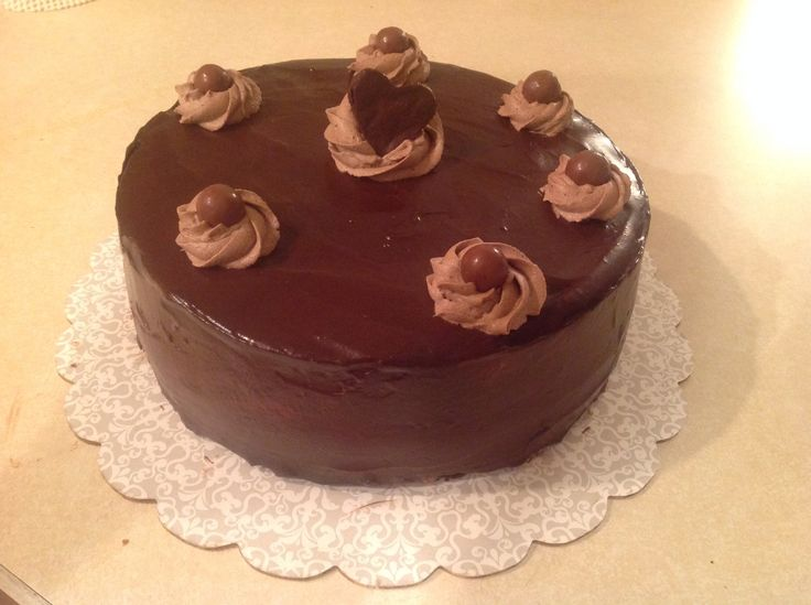 Chocolate Mousse Frosting Cake Boss