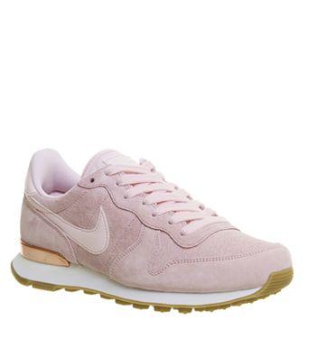 Nike, Nike Internationalist Trainers, Prism Pink White Sheen