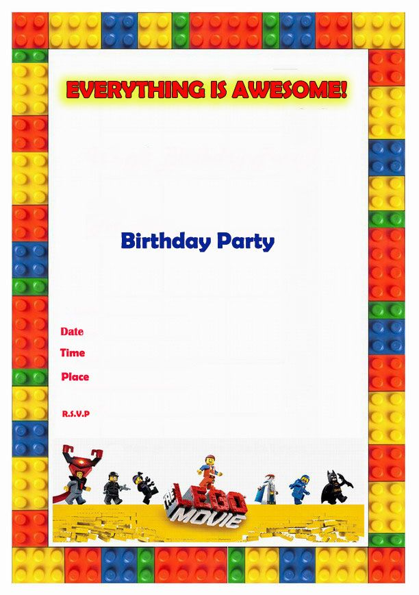 127 best images about Lego Party Ideas – Printable Lego Party Invitations