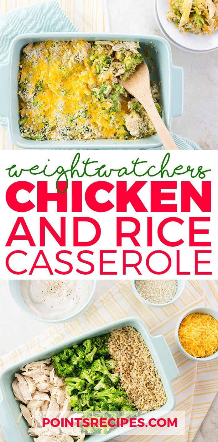 Easy Chicken and Rice Casserole (Weight Watchers SmartPoints)
