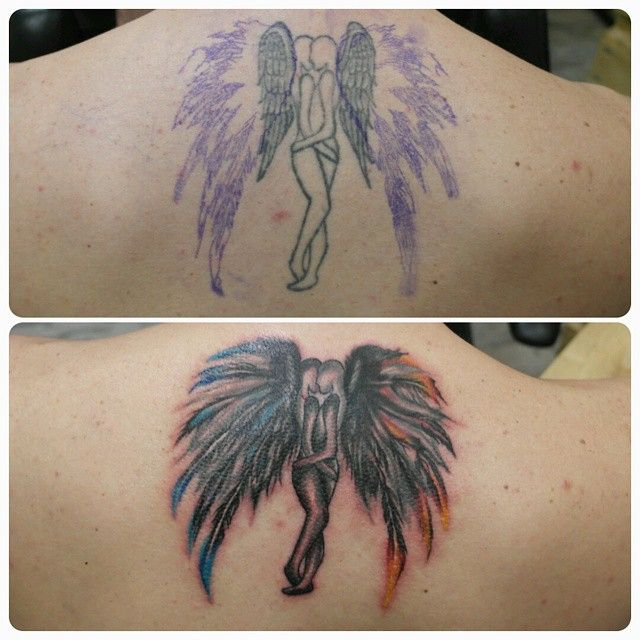 Cover up and fixing of an old tattoo. Eski bir dövmenin kapama ve düzeltemesi. #dövme #tattoo #marmarisinkbebek #marmarisink #angel #wings - http://www.marmarisink.com/cover-up-and-fixing-of-an-old-tattoo-eski-bir-dovmenin-kapama-ve-duzeltemesi-dovme-tattoo-marmarisinkbebek-marmarisink-angel-wings/