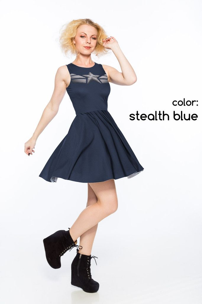 Captain America inspired The Patriot Dress - A-Line (LIMITED) - I may need this!