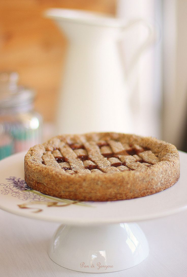 Crostata con farina di grano saraceno e confettura di fragole #vegan