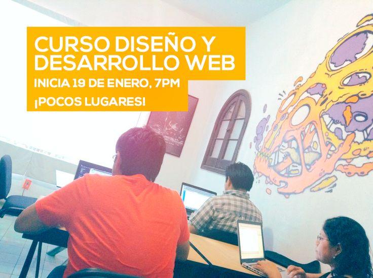 Curso de Diseño y Desarrollo Web para principiantes, diseñadores que requieran conocimientos de HTML5, CSS3 y jQuery. Separa tu lugar con $500. ENTRE SEMANA, Lunes-Miércoles-Viernes