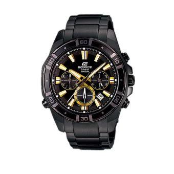 รีบเป็นเจ้าของ  Casio Edifice Chronograph นาฬิกาข้อมือ รุ่น EFR-534BK-1A - Black  ราคาเพียง  4,290 บาท  เท่านั้น คุณสมบัติ มีดังนี้ ตัวเรืองแสงโดดเด่น กันน้ำลึก100เมตร โครโนกราฟความละเอียด1วินาที การแสดงวันที่ มีโลโก้EDIFICEที่หัวเม็ดมะยม ด้านหลัง และตัวล็อค ตัวเรือนและสายเคลือบเมทัลรมดำ