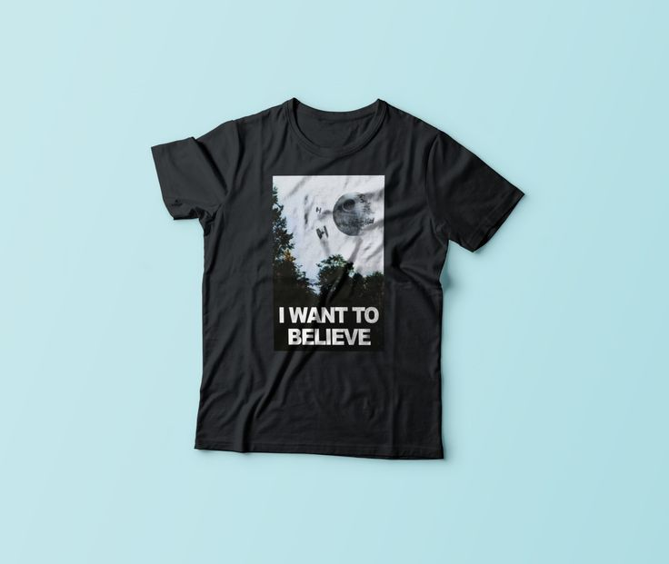 New to CrazyPugPrints on Etsy: I Want to Believe - X Files - Star Wars - Parody T-Shirt (10.00 GBP)