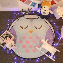 Linda habitación sala alfombras al aire libre carpet, ronda alfombra del piso esteras del juego del bebé los juguetes del bebé mat, baby crawling manta bolsa de almacenamiento de juguetes(China)