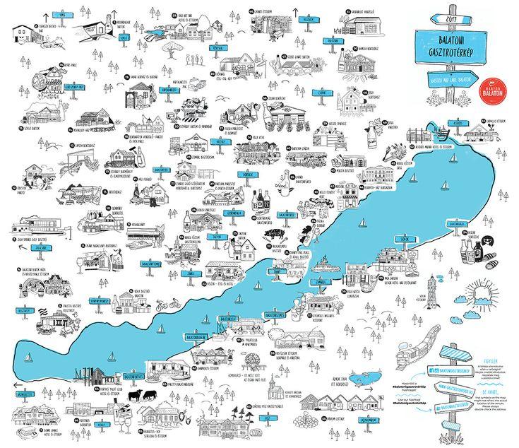 Egyetlen térképen a Balaton összes jó étterme