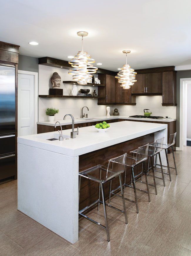 This Homeowner Fell In Love With With The Lights In Her Kitchen, The Two  · Concrete  CountertopsKitchen ...