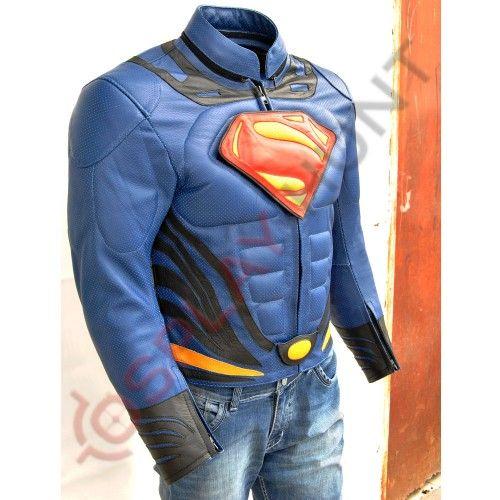 Superman Man of Steel 2 Jacket / Batman Vs Superman Costume /Motorbike Leather Jacket #superman #motorcycles #movies #motorcycles
