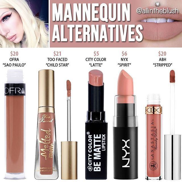 "Jeffree star "" mannequin "" dupes // @kathrynglee123"