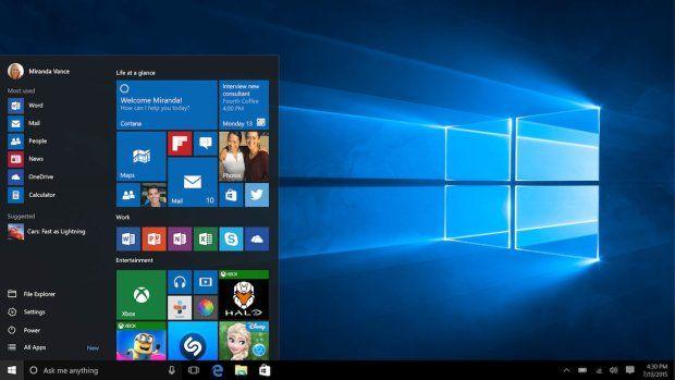Windows 10 z nową, domyślną tapetą