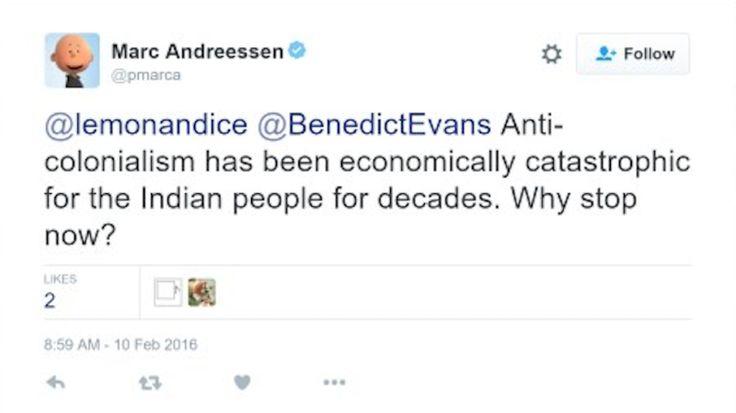 MarcAndreessen Did a Magnificently Bad Tweet