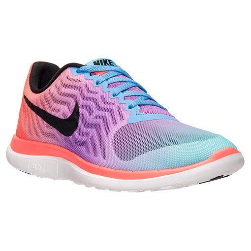 Women's Nike Free 4.0 V5 Print Running Shoes - 729515 101 | Finish Line