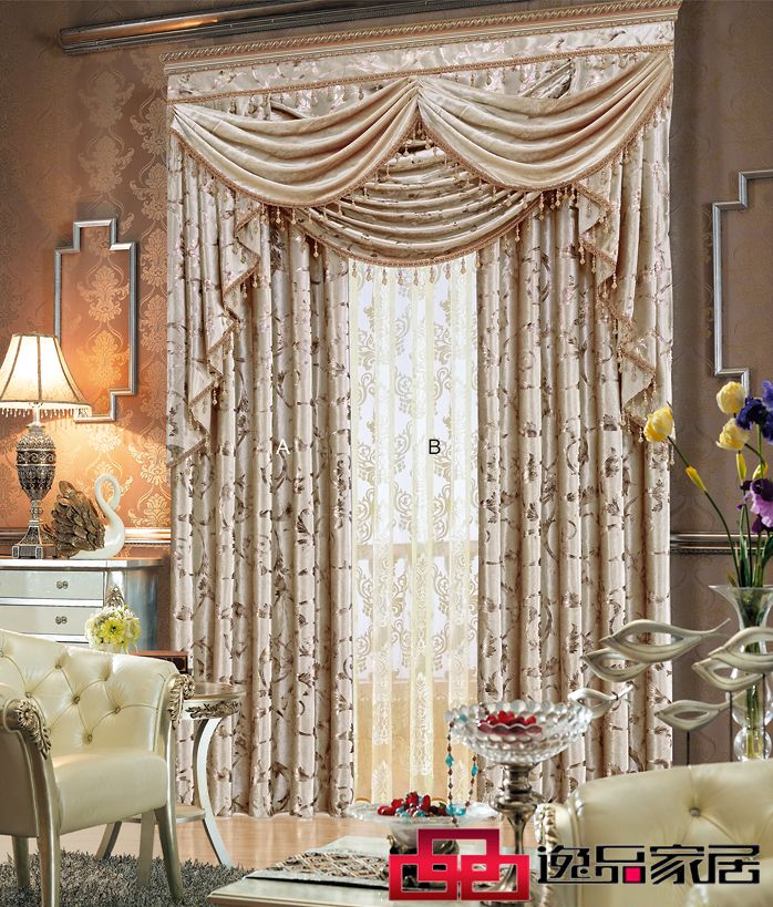 Quality Dodechedron Thickening Velvet Flannelet Fashion Curtain Luxury Living Room Curtain