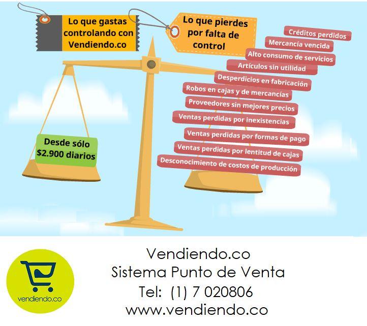 Costo Beneficio del Software Punto de Venta Vendiendo.co :https://vendiendo.co/blogs/costo-beneficio-del-software-punto-de-venta/