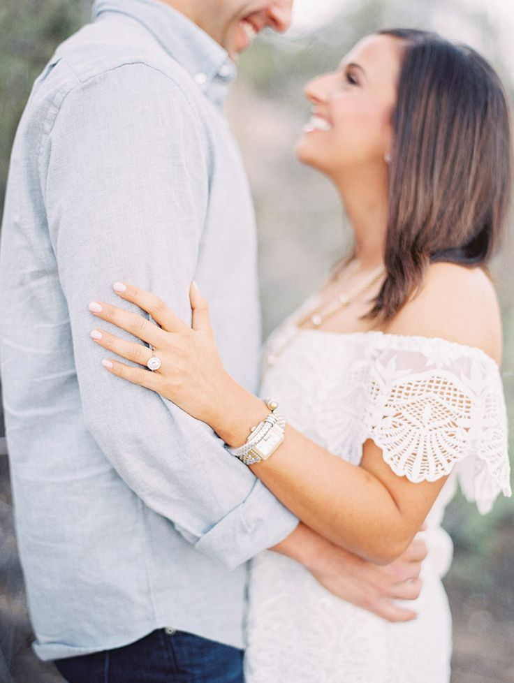 engagement session style -- white lace and light gray