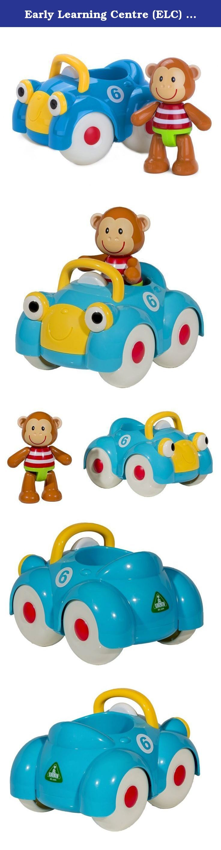 "Early Learning Centre (ELC) Toybox Monty Monkey and his Motor Car Baby Toy. Meet Monty Monkey and his motor car, which has a friendly face and numbers on the side. Place him in the car and whizz him across the floor to encourage your little one to crawl and walk. Monty Monkey makes clicking noises when you move his head, arms and legs. He can stand or sit in his car. Monty Monkey is approx. 4"" tall. Ages 1 to 3 years."