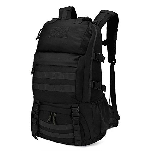 Hunting- Mardingtop Tactical Molle Backpack Military Rucksacks Army Backpack hunting backpack Military Bag for Hunting Shooting Camping Hiking Trekking Black *** Read more reviews of the product by visiting the link on the image.