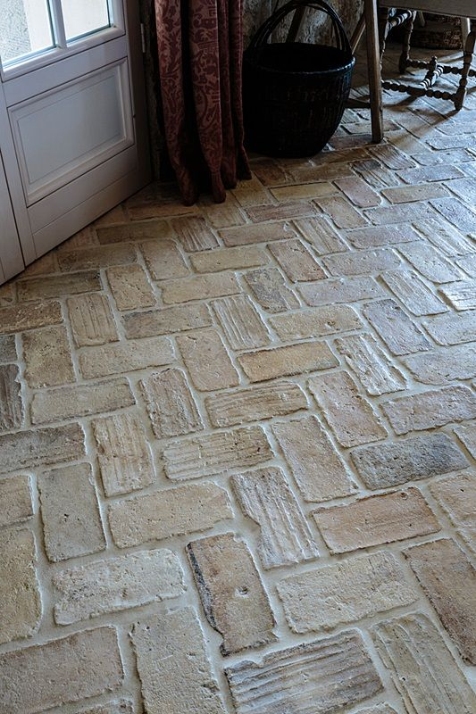 Antique Spanish parefeuille tile, Exquisite Surfaces. This is the look we want, but it is not recommended for outdoors.