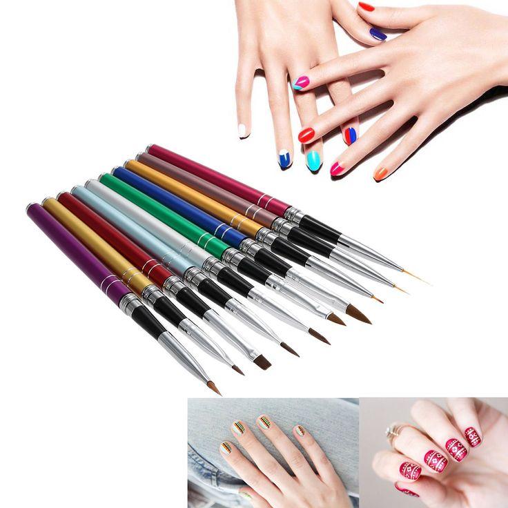 10Pcs/Set Nail Brushes Beauty Nail Art Design Polish Brush Pen Set Nylon UV Gel Painting Nail Tool Decoration Kit