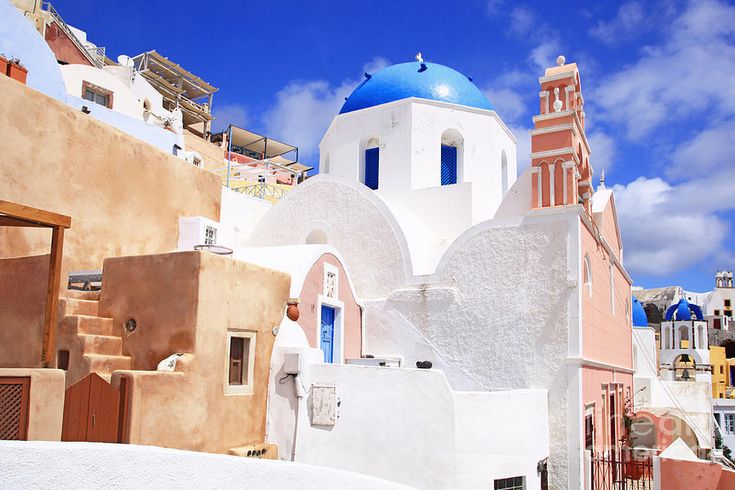 Charming church in Santorini