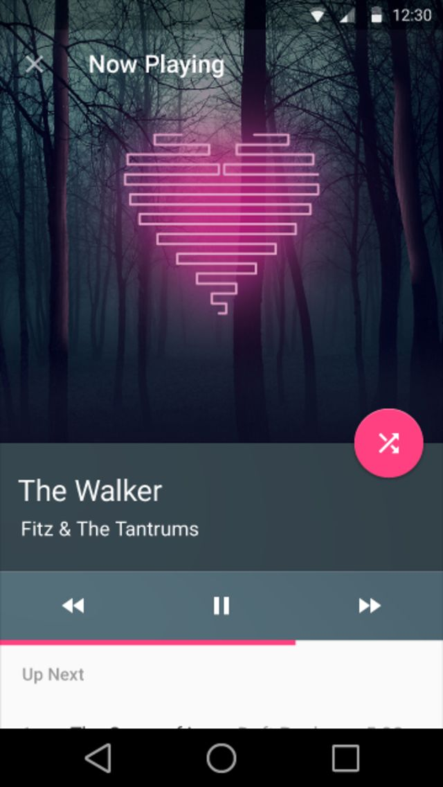 Google Material Design: Music: Player / ?