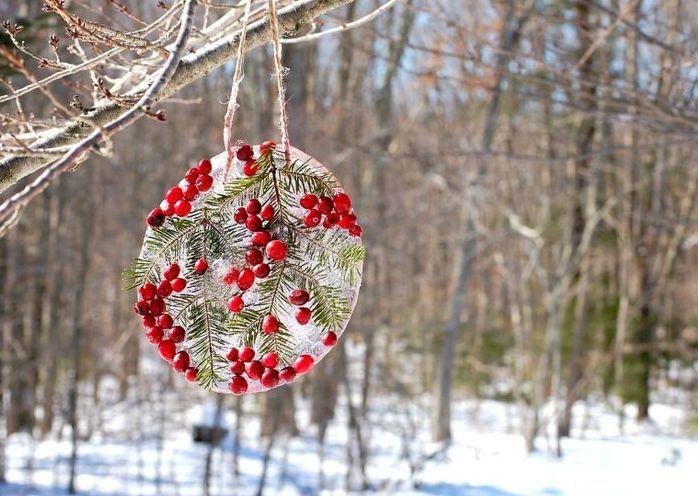 24 Творческие льда Новогодние украшения на открытом воздухе | DigsDigs