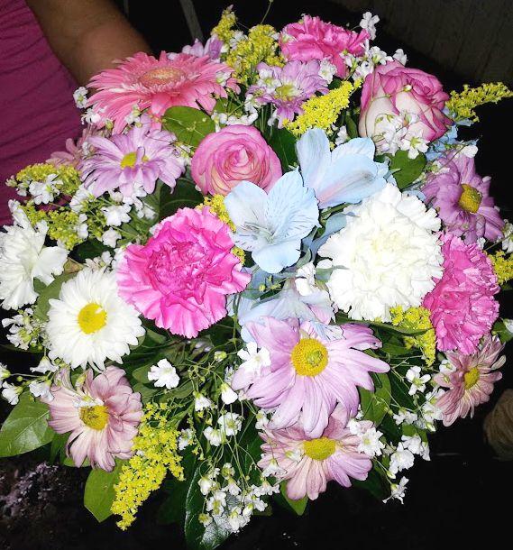 Ramo de Flores colores pastel
