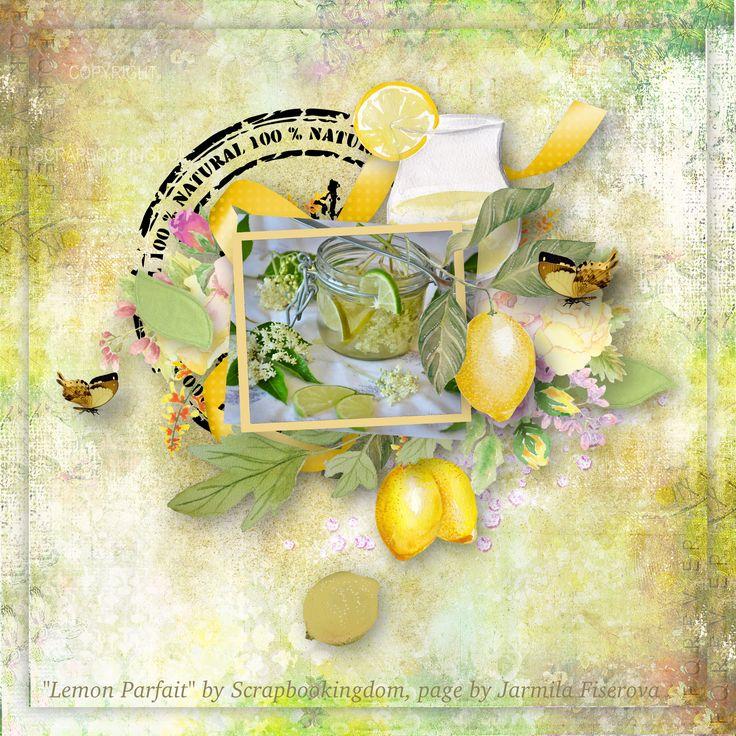"""""""Lemon Parfait"""" by Scrapbookingdom,  Paper CU: https://www.etsy.com/listing/523001021/scrapbook-kit-papers-digital?ref=shop_home_active_1 Embellishments PU: https://www.etsy.com/listing/509190656/scrapbook-kit-of-embellishments-lemon?ref=shop_home_active_2,  photo Pixabay"""